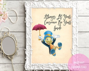 Jiminy Cricket Quote Etsy