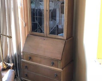 Secretary Desk With Hutch Etsy