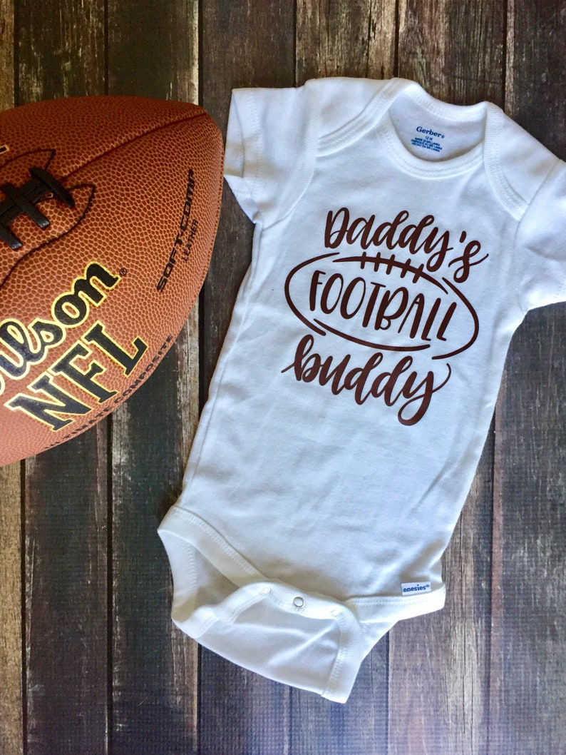 bc74898c4 Football Onesie daddy's football buddy onesie Custom | Etsy