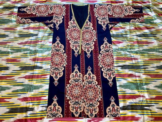 SALE!!! Uzbek Vintage National Cotton Robe Dress c