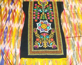 SALE!!! Uzbek Vintage Handmade Embroidery SUZANI Dress Tunic Chemise