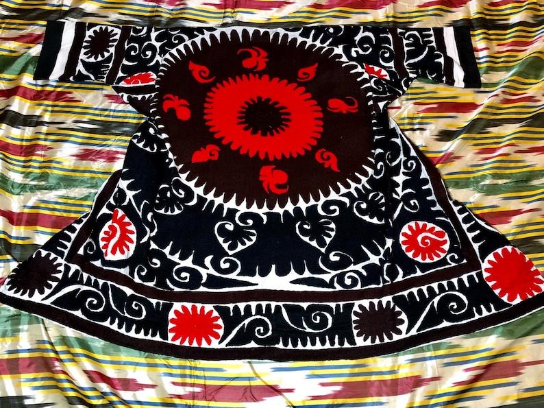 SALE!! Uzbek Vintage Handmade Embroidery SUZANI Robe Dress chapan jacket caftan