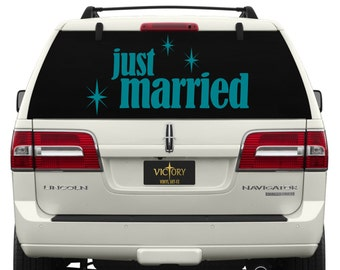 Just Married Car Window Decal ~ WE002