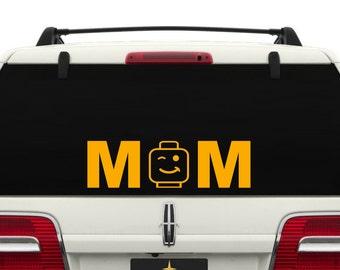 Lego Mom Car Window Decal ~ CARMOM001