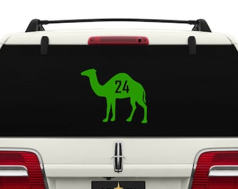 24 Hour Recovery Camel Car Window Decal ~ CAMEL001