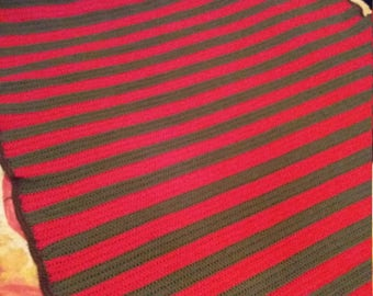freddy krueger inspired blanket horror geek quirky gift