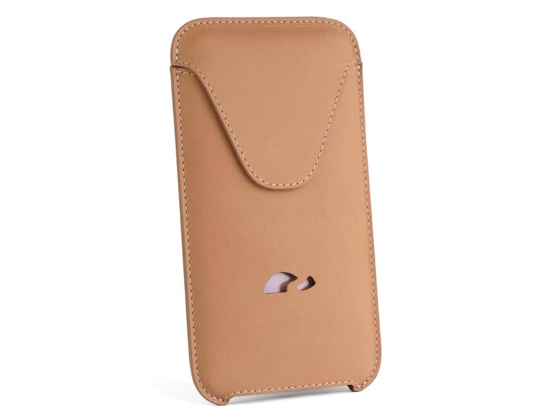 newest 04612 ff12f iPhone 8 Plus Sleeve Case - iPhone 8 Plus Leather Pouch - Slim Case iPhone  8 Plus - Sleeve Case - Natural Leather - BEIGE (CAMEL)