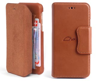 iPhone 6 Case Leather - iPhone 6 Wallet Case - Leather Wallet Case iPhone 6 - Leather Case iPhone 6 - Flip Case - TAN