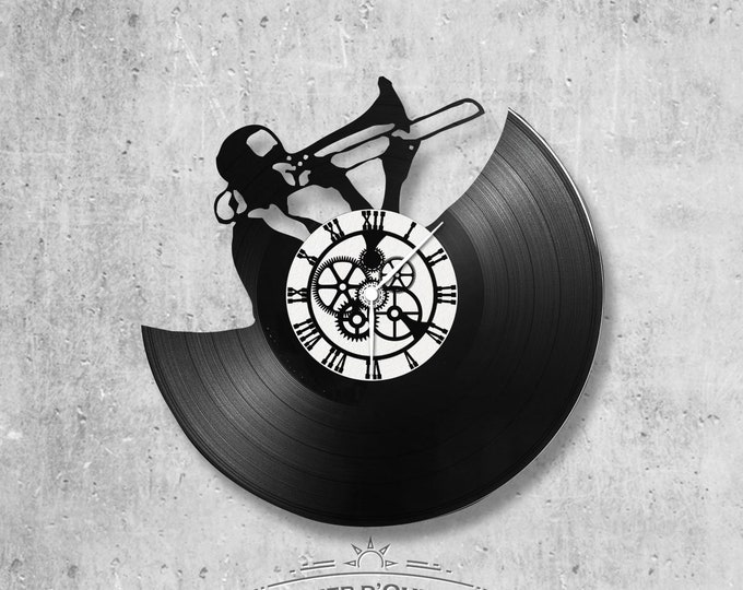 Vinyl 33 clock towers theme trumpet player