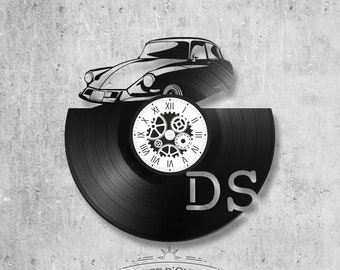 Vinyl record clock 33 rounds theme DS, car, citroen, president