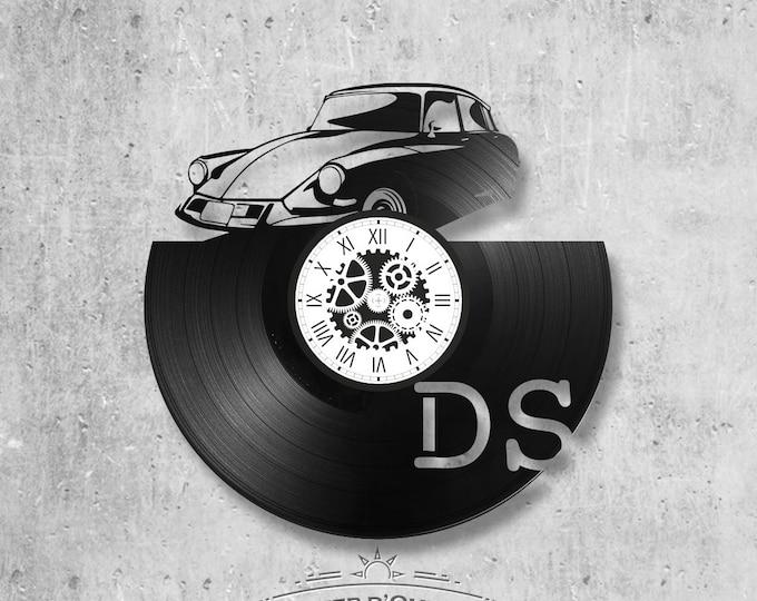 Vinyl record clock 33 rounds theme DS, car, citroen, president