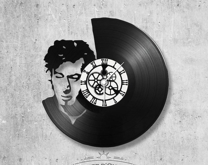 Wall clock vinyl 33 rounds hand made / French theme Alain Bashung, singer, variety