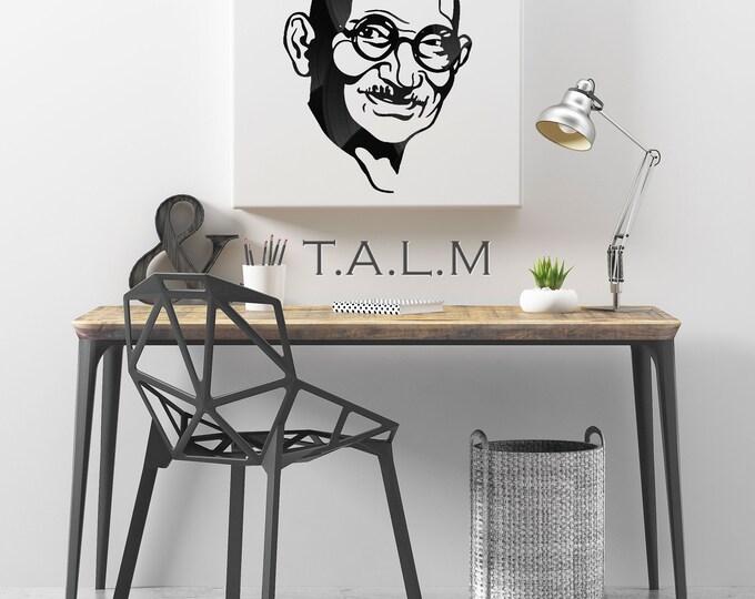 Web - painting cutting Gandhi vinyl records