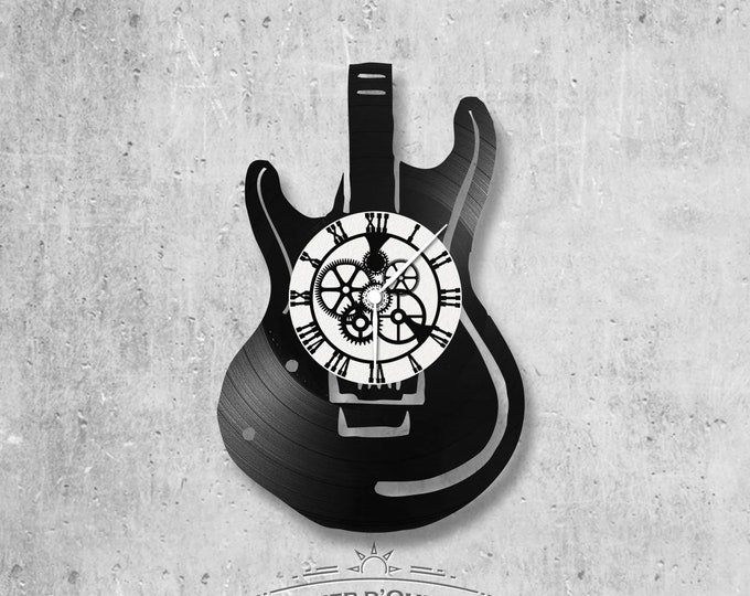 Vinyl 33 clock towers Guitar theme