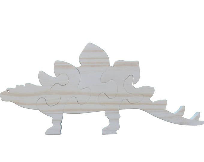 PUZZLE 3D DINOSAUR RAW OR CUSTOMIZABLE WOODEN