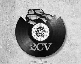 Vinyl record clock 33 rounds theme 2 CV
