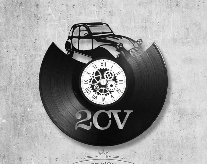 Vinyl record clock 33 rounds theme 2 CV