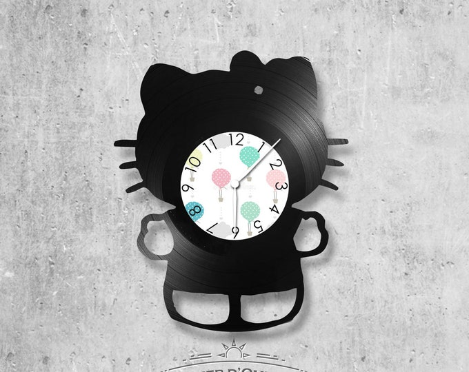 Vinyl 33 clock towers Hello Kitty Kids theme
