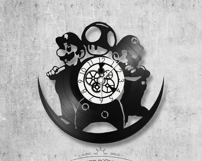 Vinyl 33 clock towers theme Mario and luigi