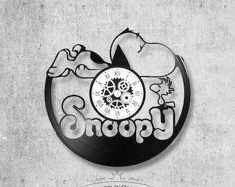 Vinyl record clock 33 rounds Snoopy theme