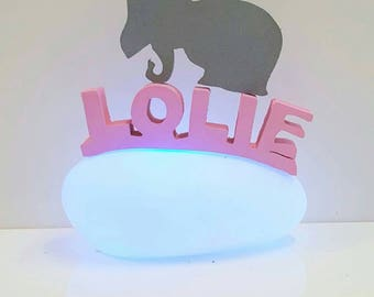 personalized Nightlight. Pebble bright 12cm