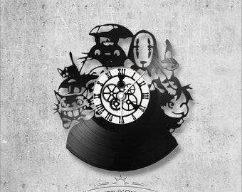 Vinyl 33 clock towers Studio Ghibli theme
