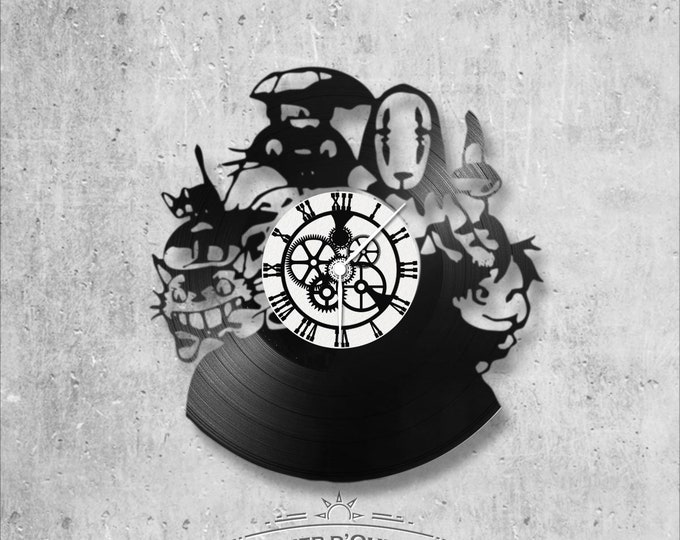 Vinyl 33 clock towers Studio Ghibli theme