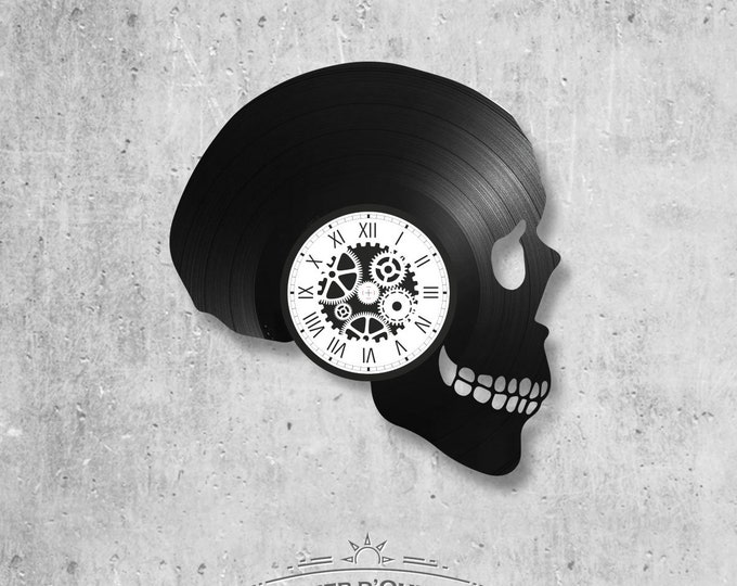 Vinyl record clock 33 rounds theme Deathhead