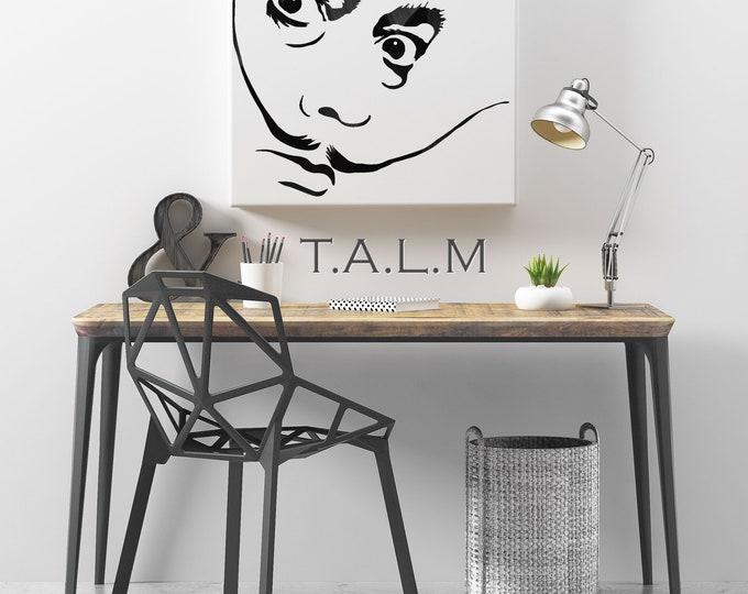 Web - table carvings vinyl discs Salvador Dali