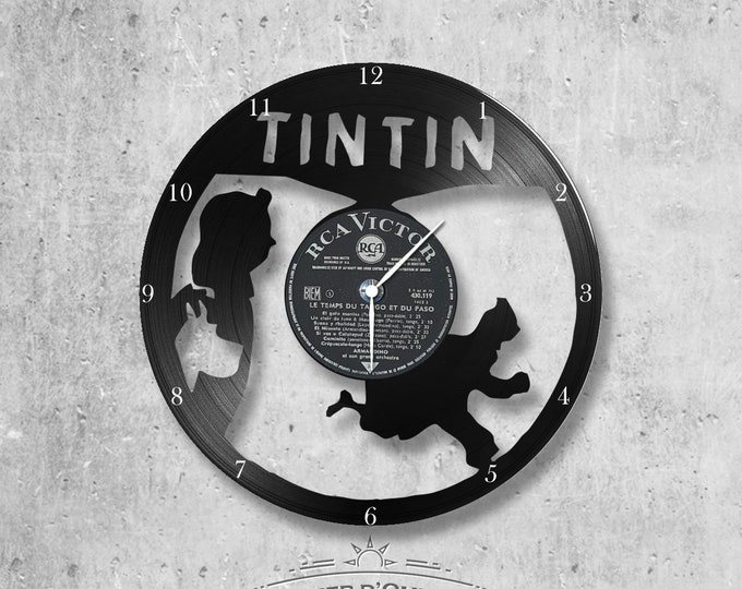 Vinyl 33 clock towers Tintin theme