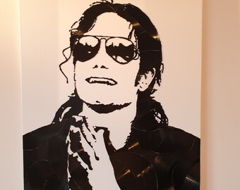 Michael Jackson vinyl canvas