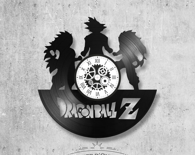 Vinyl disc clock 33 rounds theme Dragon Ball Z Character