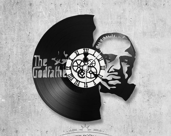 Vinyl record clock 33 rounds theme The Godfather