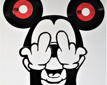Mickey vinyl canvas