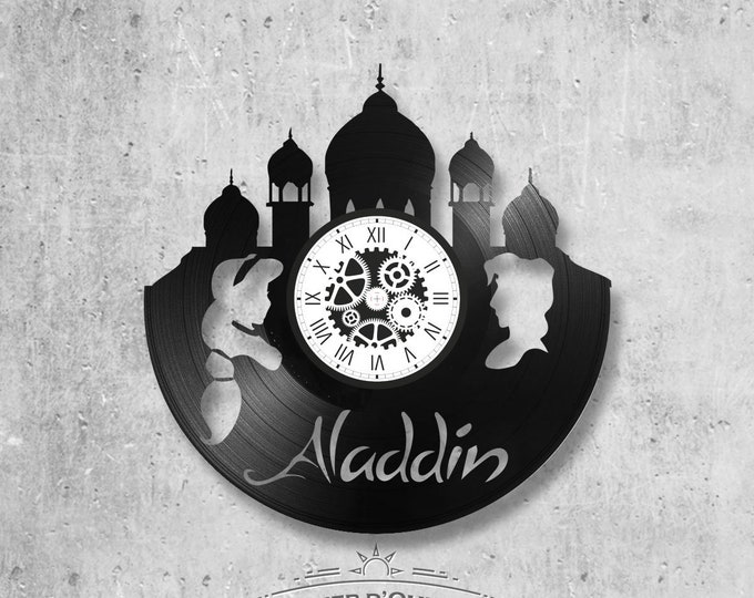 Aladdin-themed vinyl clock 33 rounds
