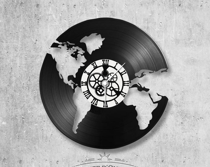 Vinyl record clock 33 rounds theme The World - The World