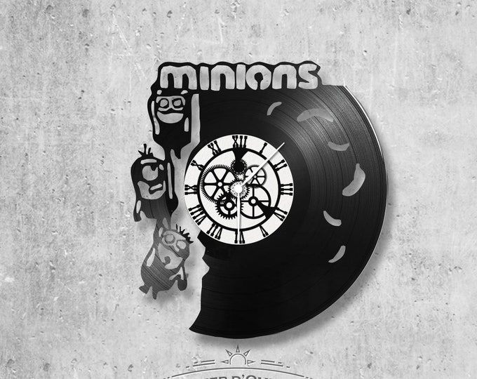 Vinyl 33 clock towers Minion theme