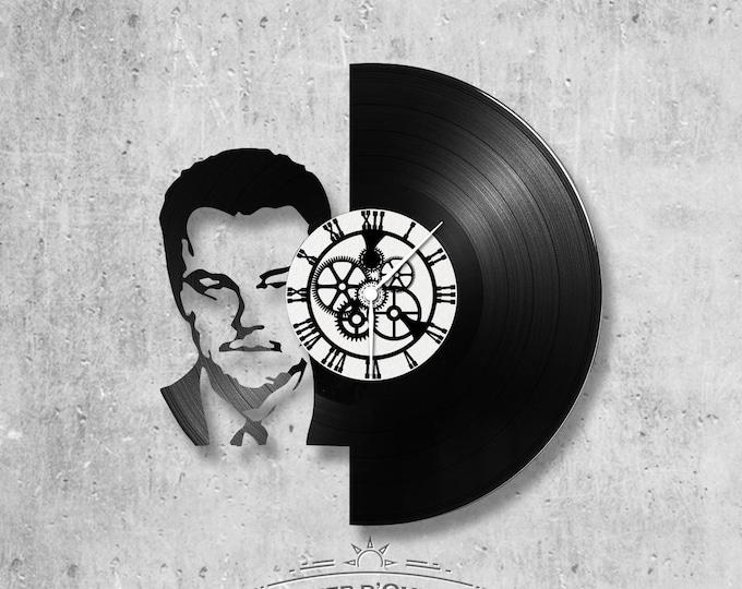 Vinyl record clock 33 rounds Leonardo Di Caprio theme