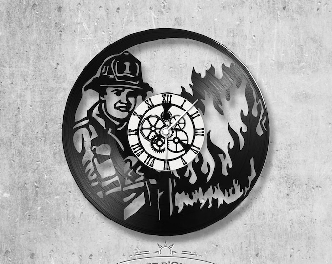 Vinyl 33 clock towers firefighter theme