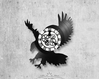 Vinyl 33 clock towers Eagle theme