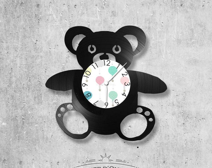 Vinyl 33 clock towers Teddy - bear theme