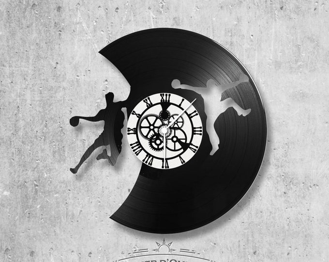 Vinyl record clock 33 rounds Hand-ball theme