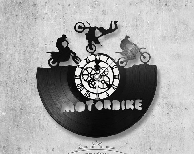 Vinyl 33 clock towers Motorbike theme
