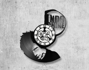 33-turn handmade vinyl wall clock / Indochina theme, rock band, Nicolas Sirkis