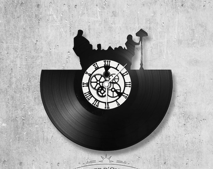 Vinyl record clock 33 rounds Theme Friends