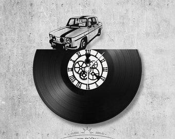 Horloge en disque vinyle 33 tours thème Renault 8