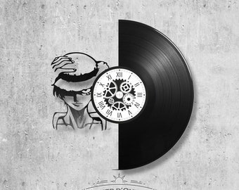 Vinyl disc clock 33 rounds theme One piece