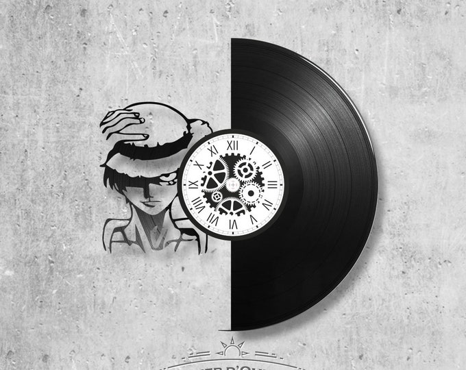 Vinyl disc clock 33 rounds theme One piece