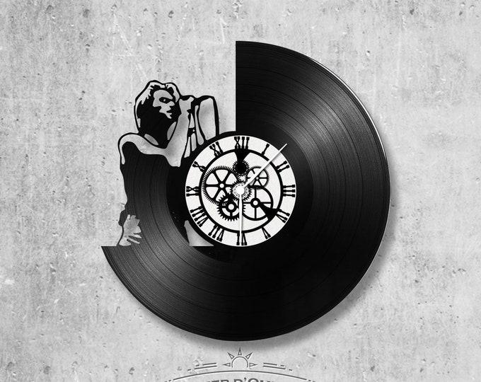 33-round vinyl disc clock Jon Bon Jovi theme