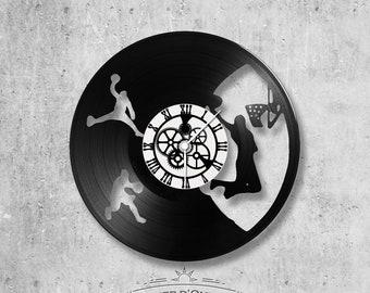 Vinyl record clock 33 rounds theme Basketball ball